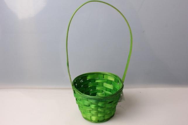 Корзина плетеная (бамбук) зелёный. 3500