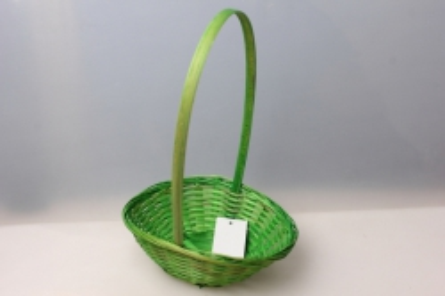 Корзина плетеная (бамбук) зелёный, d=19, h=5см 3579