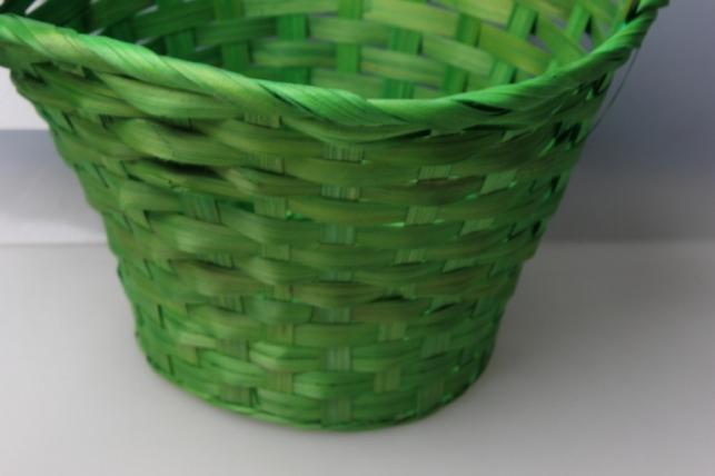 корзина плетеная (бамбук) зелёный, d=23, h=17/53см 3647