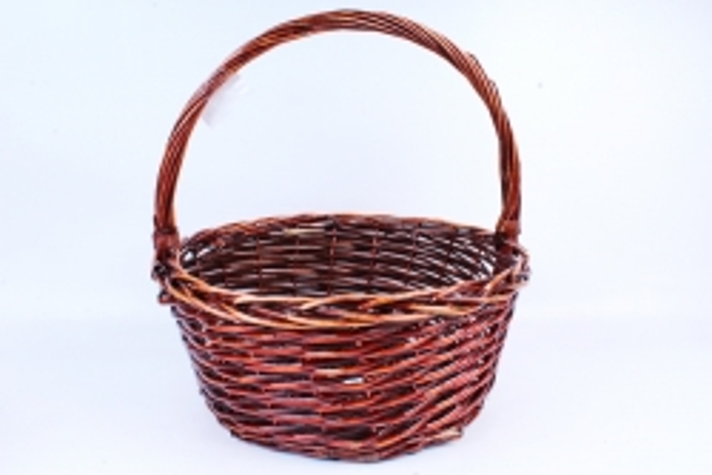 Корзина плетёная (ива) Круг коричневый КС-319