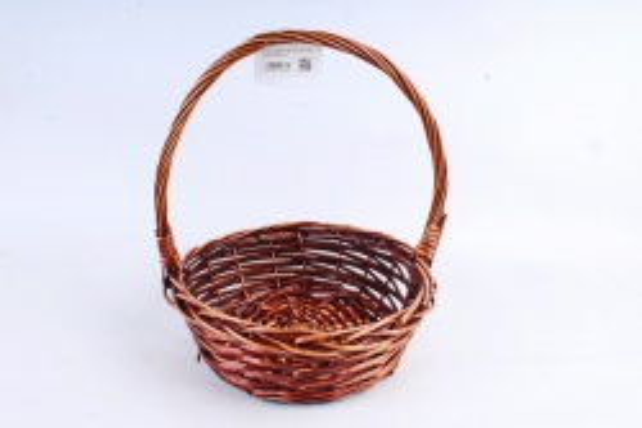 Корзина плетёная (ива) Круг коричневый   КС-310