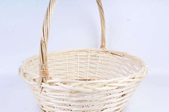 Корзина плетёная (ива) Круг натуральный КС-319