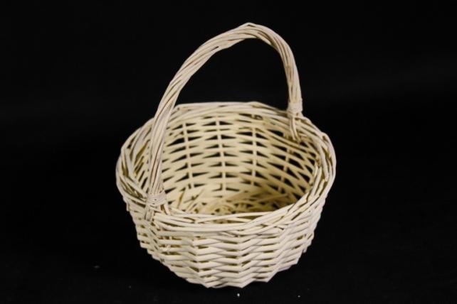 Корзина плетеная (ива) 1шт- Круг желтый  КС-095