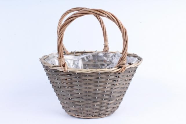 Корзина плетеная (ива) 1шт-  Овал   1395