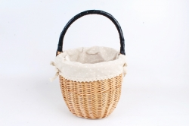 Корзина плетеная (ива, ткань), 25хH20 см, 1 шт., натуральный 4260 М