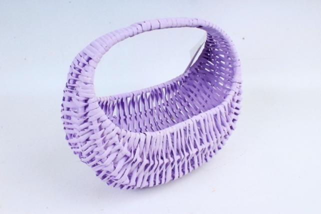 Корзина плетеная (ива),  1 шт., цв. сиреневый  8603