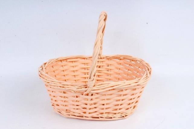 Корзина плетеная (ива), 1 шт., цв. светло-персиковый  8658