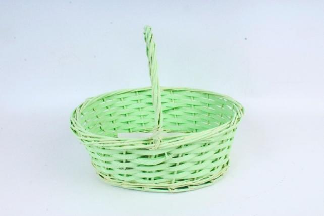 Корзина плетеная (ива),  1 шт., цв. светло-салатовый  8641