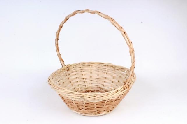 Корзина плетеная одиночная (ива) - Круг  (МА)