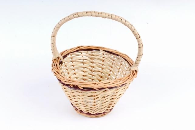 Корзина плетеная одиночная (ива) - Круглая   (Ма)