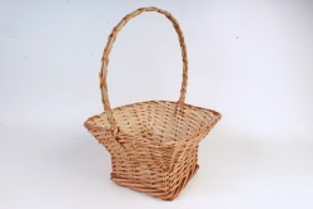 Корзина плетеная одиночная (ИВА) - Квадрат    (МА)