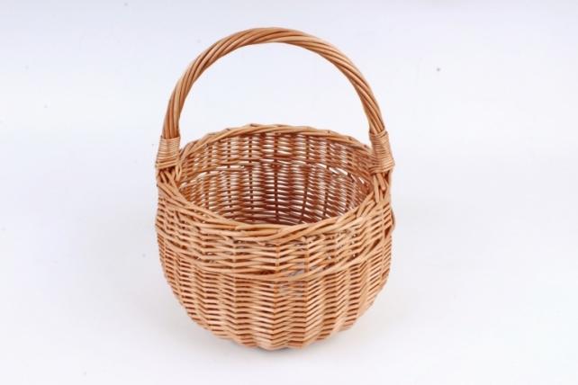 Корзина плетеная одиночная (ива) - Лукошко круглое   (МА)