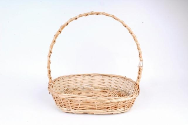 Корзина плетеная одиночная (ива) - Овал   (МА)