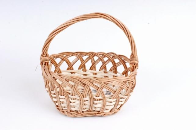 Корзина плетеная одиночная (ива) - Овал малый  (Ма)