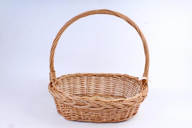 Корзина плетеная одиночная (ива) - Овал с косой   (МА)