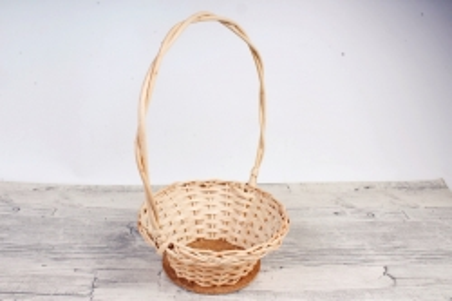 Корзина плетеная одиночная (ива) - Плошка круглая малая   (МА)