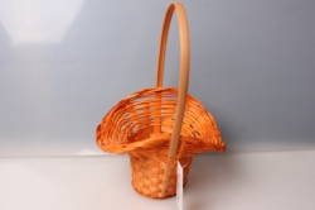 Корзина плетеная Шляпа (бамбук) оранжевая 3722