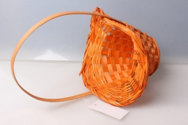 корзина плетеная шляпа (бамбук) оранжевая d=21/13, h=14/29см 3722