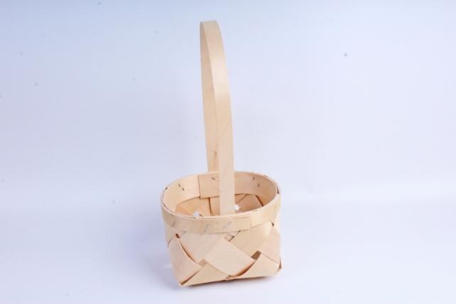 Корзина плетеная (шпон) Круг натуральный