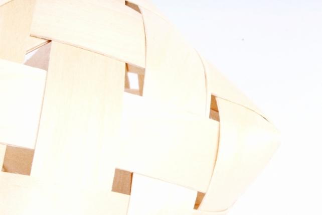 Корзина плетеная (шпон) Ягодная Овал