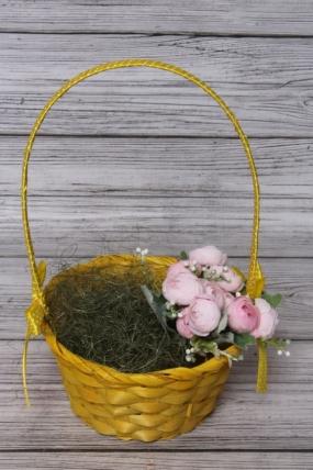 Корзина плетенная (бамбук),   желтый. Арт. 4640108809318 М