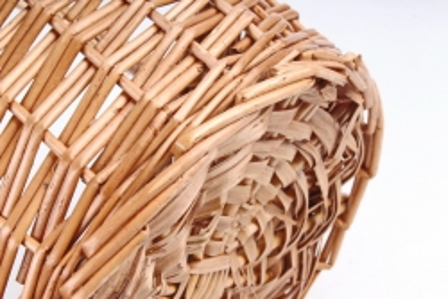 Корзина плетенная (ива),   1 шт., светло-медовый  7506 (М)