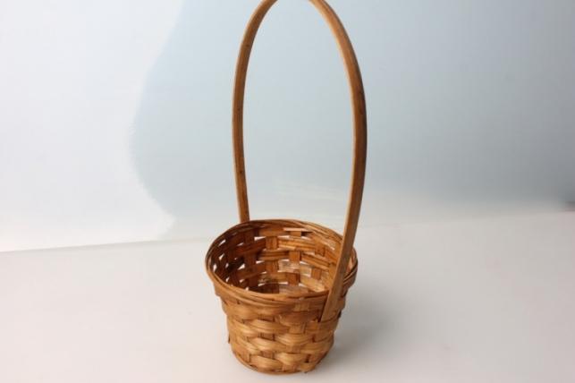 Корзина плетеные (бамбук) коричневая  d=13, h=9,5/28см 3609