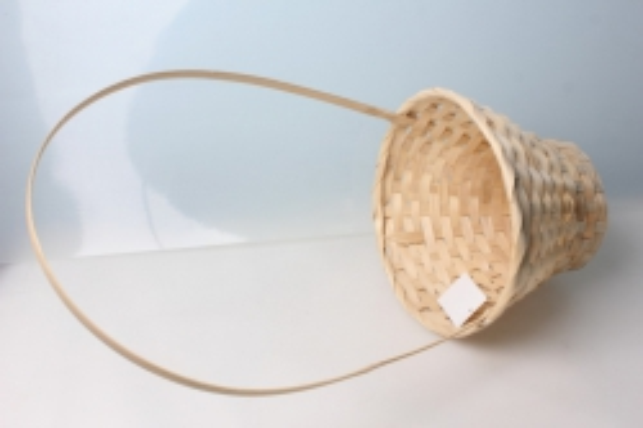 Корзина плетеные (бамбук) натуральная 3593 d=23, h=17/53см