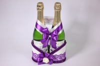 Корзина под шампанское - бело/фиолетовая (1)