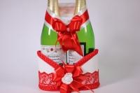Корзина под шампанское - бело/красная (1)