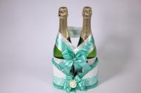 Корзина под шампанское - бело/мятная (1)