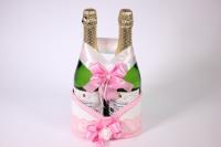 Корзина под шампанское - бело/розовая (1)