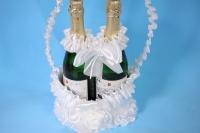 Корзина под шампанское с ручкой - белая (1)