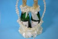 Корзина под шампанское с ручкой - шампань (1)
