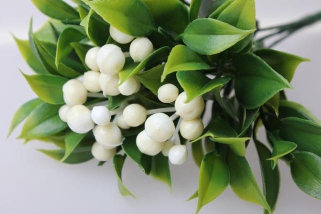 костеника белая букет - растения искусственные