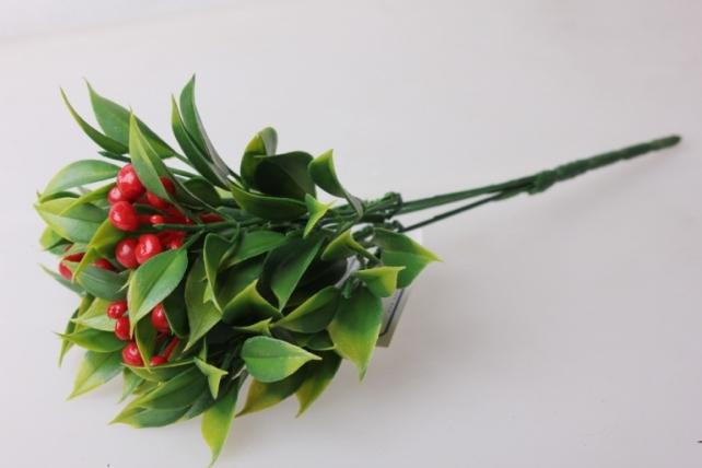 костеника красная букет - цветы искусственные