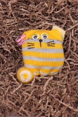Кот Матрасик жёлтый 12 см