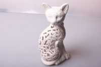 Кот резной малый (керамика) 22х10.5см.