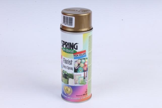 краска-спрей флористическая spring золото