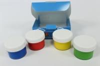 Краски для рисования пальчиками, Набор 4 цвета