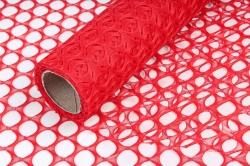 Крошет круглая ячейка 50см*4,5м красный 3865 (Н)