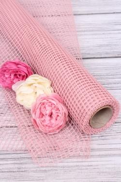 """Крошет """"Сетка"""",50cmx5yds цв. чайная роза 5273М"""