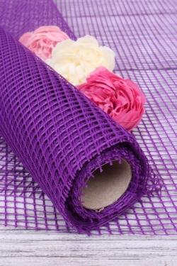 """Крошет """"Сетка"""",50cmx5yds цв. фиолетовый 5198М"""