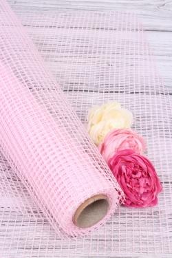 """Крошет """"Сетка"""",50cmx5yds цв. нежно-розовый 5235М"""