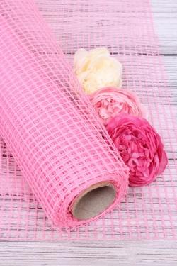 """Крошет """"Сетка"""",50cmx5yds цв. розовый 5228М"""