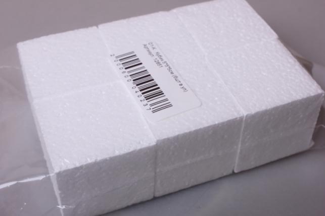 Кубик форма из пенопласта 5*5*5см (6шт в уп) 01-К