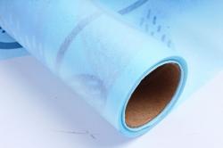 """Ламинированный фетр """"Палисадник"""", 60 см х 5 м Голубой"""