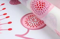 """Ламинированный фетр """"Палисадник"""", 60 см х 5 м Розовый"""