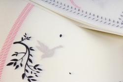 """Ламинированный фетр """"Птички"""" 60x60cm (10 листов), Черный"""