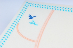 """Ламинированный фетр """"Птички"""" 60x60cm (10 листов), Небесный"""